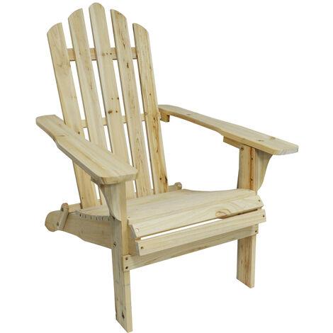 "main image of ""WATSONS - Adirondack Wooden Garden Chair - Natural"""