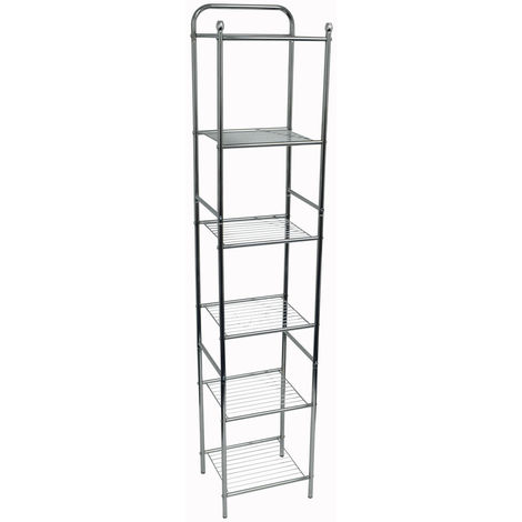 WATSONS - Bathroom / Kitchen 6 Shelves Wire Storage Unit - White