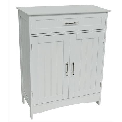 WATSONS - Bathroom Kitchen Storage Cabinet With Drawer - White