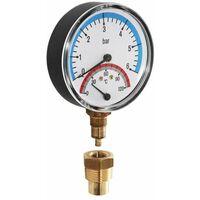 Watts Thermomanometer Manothermometer Thermometer Manometer radial 6 bar 20 - 120°C TMRA6