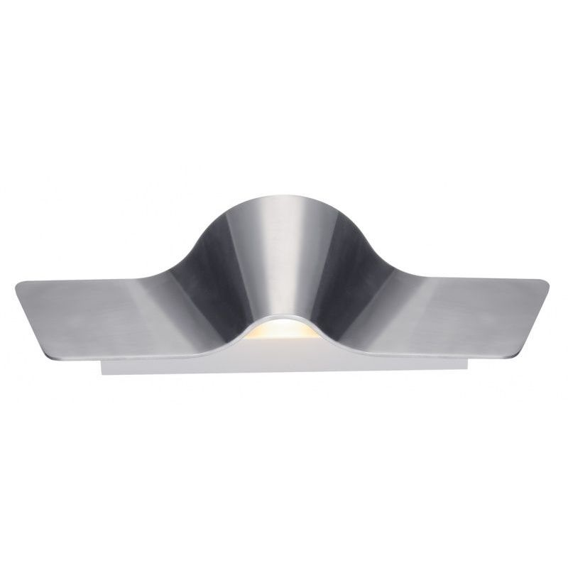 Wave wall applique alu w led k alu brossé