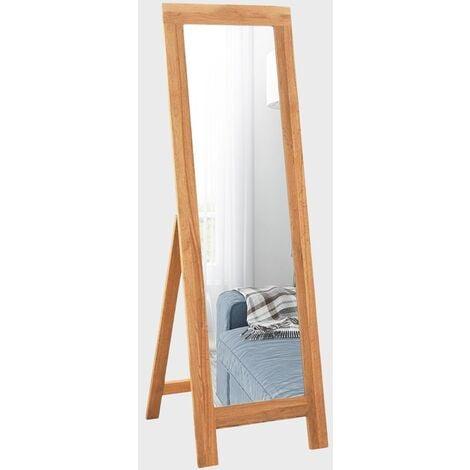 Waverly Oak Cheval Mirror in Light Oak Finish 150cm | Full Length Framed Free standing Floor Solid Wooden Dressing Mirror