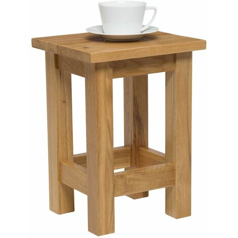 """main image of """"Waverly Oak Small Side Table in Light Oak Finish   Solid Wooden Slim Occasional / Coffee / Lamp / End / Console Stand"""""""