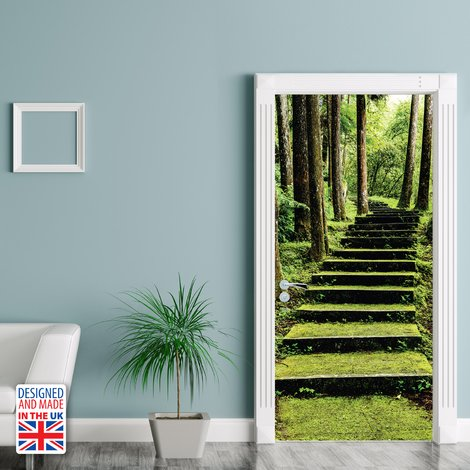 Way To Nature Self-Adhesive Door Mural Sticker For All Europe Size 90Cm X 200Cm