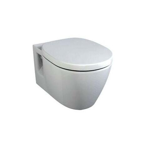 WC à chasse plate à montage mural Ideal Standard Connect E8017, Coloris: Blanc avec Idéal Plus - E8017MA