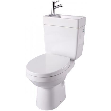 WC à poser avec lave-mains intégré sans bride sortie horizontale Opale