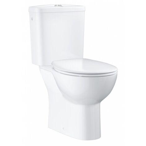 WC à poser GROHE Bau Ceramic sans bride - Abattant frein de chute