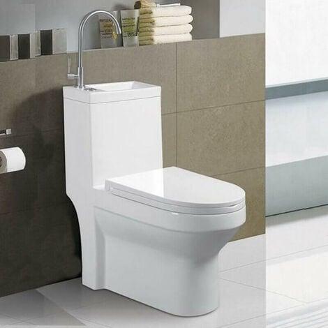 WC A Poser Monobloc Avec Lave Main Integre