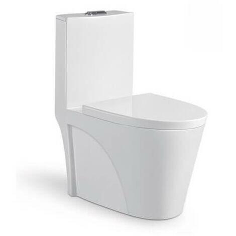WC à Poser Monobloc - Céramique Blanc - 39x75 cm - Fusion