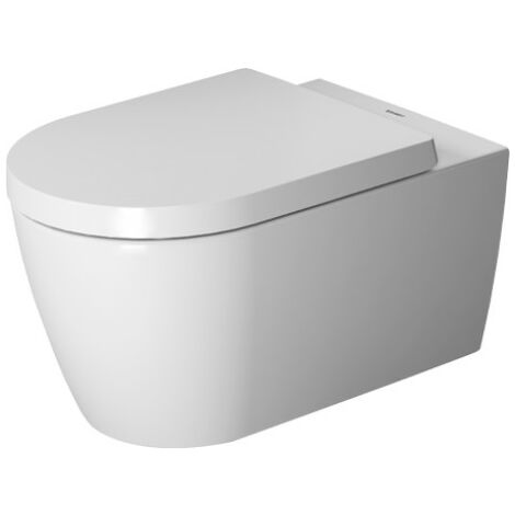 WC à suspension murale Duravit ME by Starck, sans rebord, lavable, Durafix inclus, 370 x 570 mm, Coloris: Couleur intérieure blanche, Couleur extérieure blanche - 2529090000