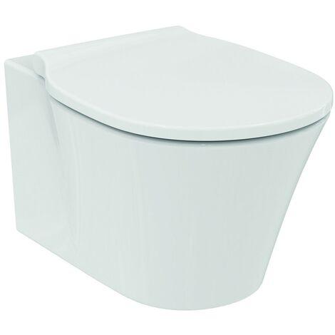 WC à suspension murale Ideal Standard Connect Air, sans bord de chasse d'eau E0155, Coloris: Blanc avec Idéal Plus - E0155MA