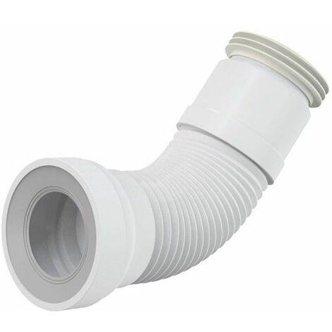 WC-Anschluß Abfluß weiß weiss WC-Abfluß Länge von 280 bis 550 mm flexibel Anschlussdurchmesser 80/110×100/120 mm