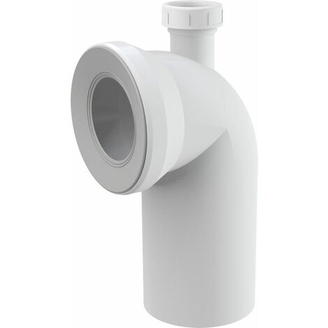 """WC-Anschluß Bogen 90 Grad mit zusätzlichen Anschluss DN 40 6/4"""" Konnektoranschluss"""