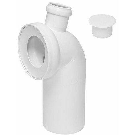 WC-Anschluß-Bogen 90 Grad WC mit zusätzlichem Anschluss