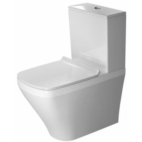WC autonome Duravit DuraStyle Kombi 63cm lave-vaisselle, pour réservoir de chasse en surface, sortie Vario, Coloris: Blanc avec Wondergliss - 21550900001