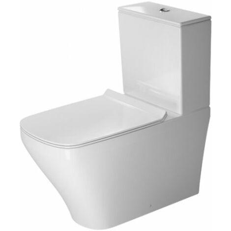 WC autonome Duravit DuraStyle Kombi Rondelle de 72 cm de profondeur, pour réservoir de chasse en surface, sortie Vario, Coloris: Blanc avec Wondergliss - 21560900001