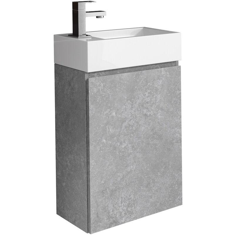 WC Badmöbel Angela 40x22 cm F. Ash - Schrank Waschbecken Badezimmer Toilette - BADPLAATS