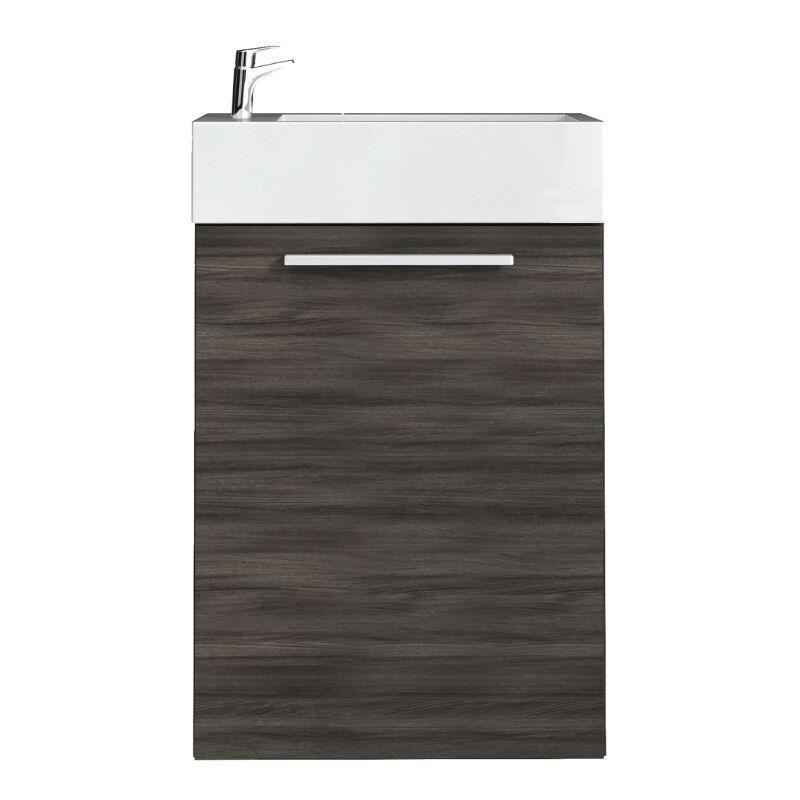 WC Badmöbel Athene 40x22 cm eiche dunkel - Schrank Waschbecken Badezimmer Toilette - BADPLAATS