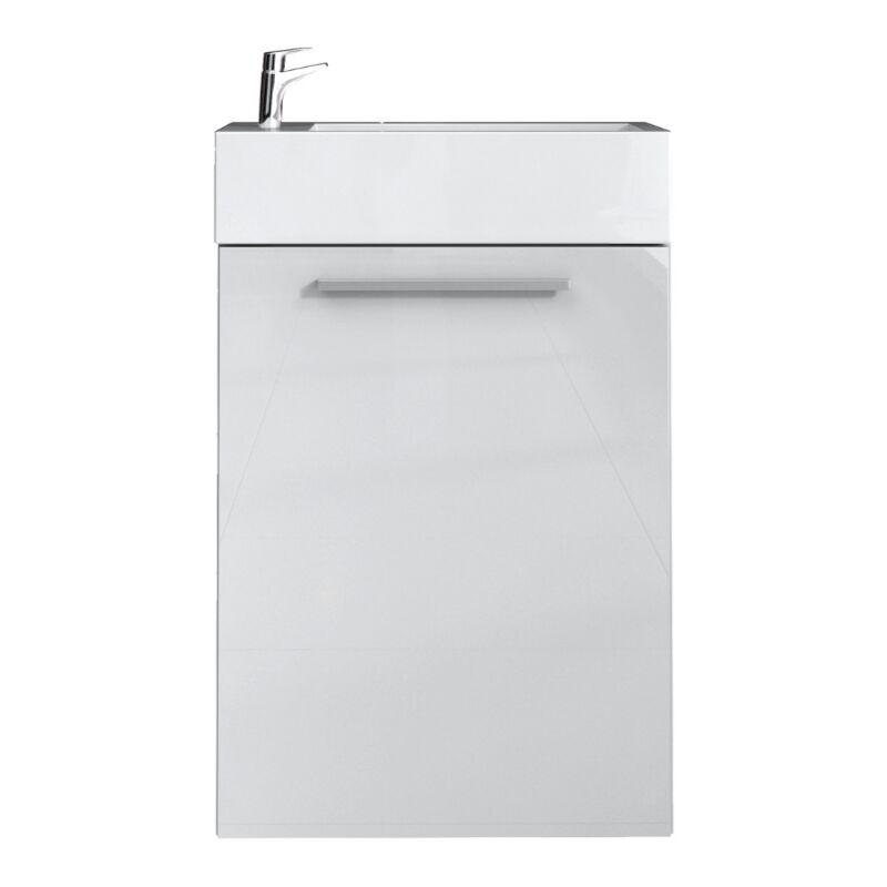 WC Badmöbel Athene 40x22 cm hochglanz weiß- Unterschrank Schrank Waschbecken Waschtisch Toilette - BADPLAATS