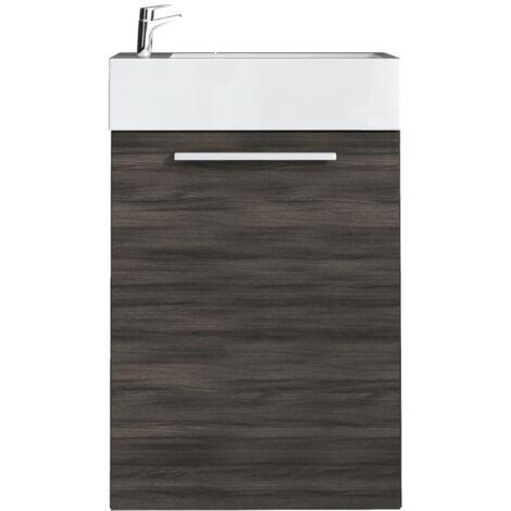 WC Badmöbel Athene 40x22 cm eiche dunkel - Schrank ...