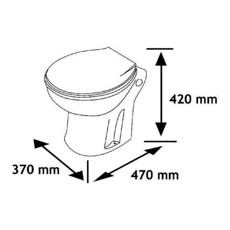 Standard dimensions for close-couple toilets
