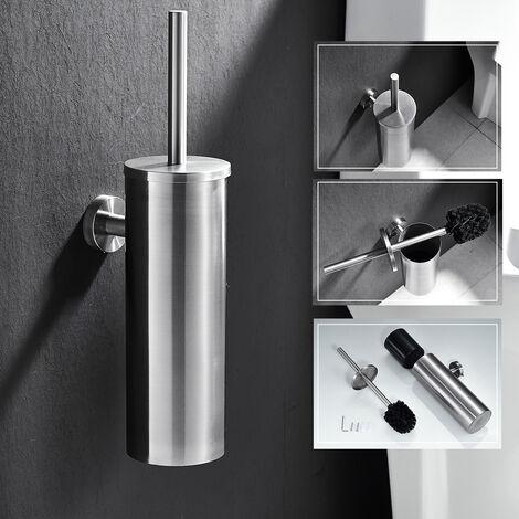 WC Bürste zur Wandmontage, Edelstahl und Rost-beständig Klobürste und Halter, Dauerhaft Toilettenbürste für Badezimmer WC