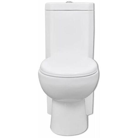 WC Ceramic Toilet Bathroom Corner Toilet White QAH03835