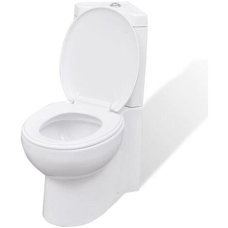 WC Ceramic Toilet Bathroom Corner Toilet White VD03835