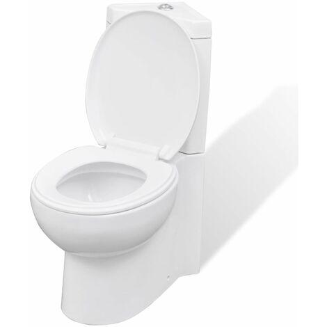 WC Ceramic Toilet Bathroom Corner Toilet White VDTD03835