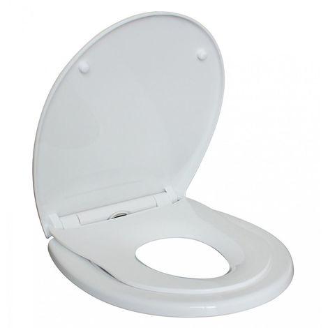 WC Famille Siège de Toilette Abattant Softclose frein de chute + siège réducteur à enfants bébé