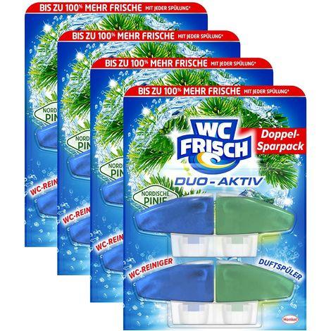 WC FRISCH Duo-Aktiv Nordische Pinie 4er Pack WC-Reiniger 4x2 Stück Nachfüllpack