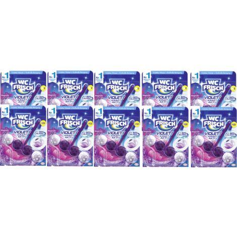 WC FRISCH Violett Kraft Aktiv 10er Pack Magnolie WC-Reiniger 10x1 Stück