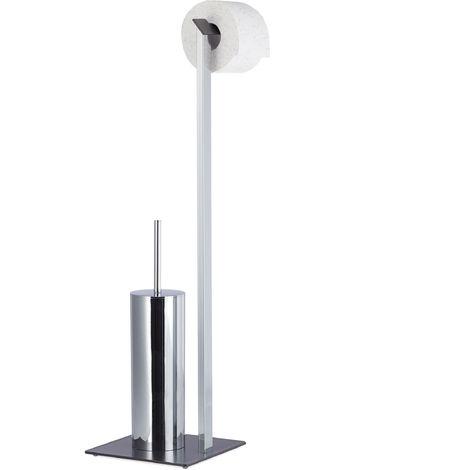 Häufig WC-Garnitur Chrom, Toilettenpapierhalter, WC-Bürste, WC HX53