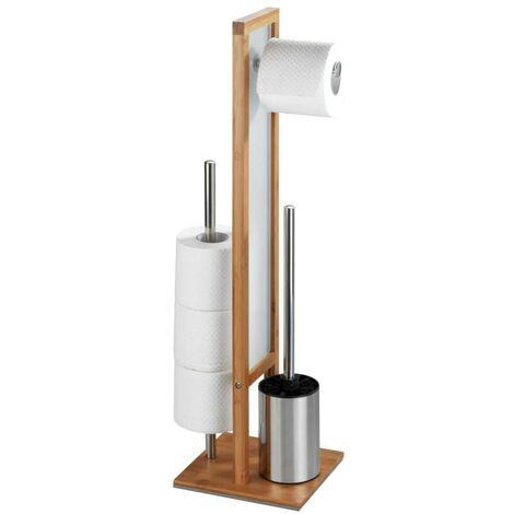 Wc Garnitur Toilettenbürste Klobürste Bürstenhalter Bürstengarnitur Rival Bambus