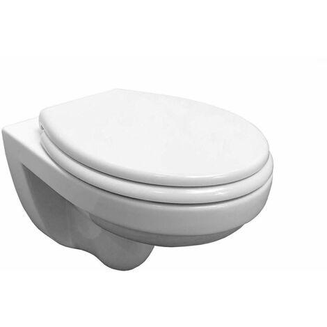 , WC Keramik,wandhängeToilette mit passendem WC Sitz mit Absenkautomatik, die Keramik ist spülrandlos
