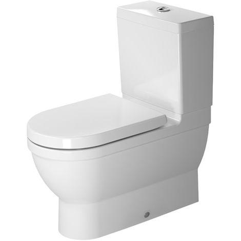 WC Kombi Starck 3, 70,5 cm, apto para SensoWash, lavavajillas, color: Blanco con Wondergliss - 21410900001
