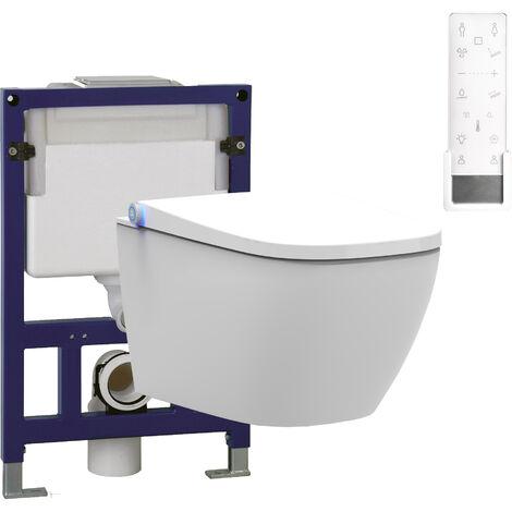 WC-Komplettpaket 27: BERNSTEIN DUSCH-WC PRO+ 1104 & Vorwandelement G3005 und Betätigungsplatte oben