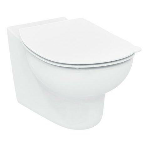 WC lavable mural Ideal Standard Contour 21, o rim, pour enfants (7-11) S3128, Coloris: Blanc avec Idéal Plus - S3128MA