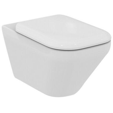 WC lavable mural Ideal Standard Tonic II, AquaBlade, K3158, Coloris: Blanc avec Idéal Plus - K3158MA