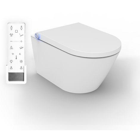 WC lavant BERNSTEIN DUSCH-WC PRO+ 1102 - à fond creux sans bride - WC japonais - cuvette complète