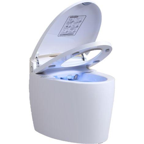 WC monobloc Japonais Luxe Diamond PLUS - Blanc