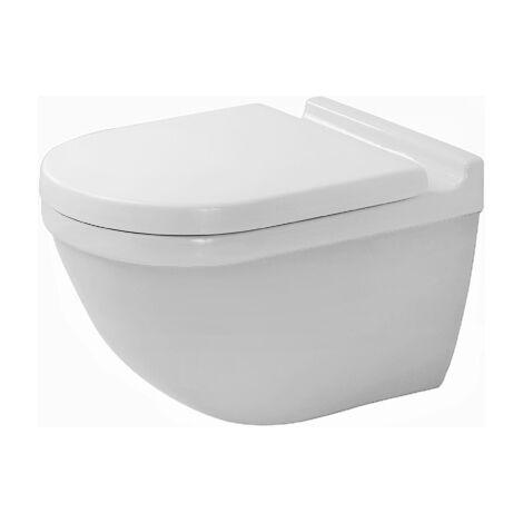 WC mural Duravit Starck 3 540mm lave-vaisselle, fixation cachée, blanc, Coloris: Blanc avec Wondergliss - 22250900001
