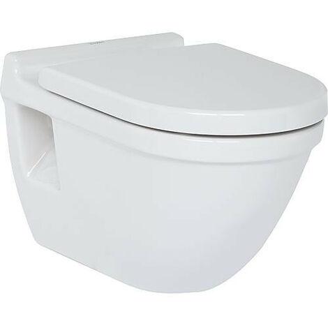 WC mural Duravit Starck 3 en ceramique, avec fixatin, blanc 6,0l rincage, lxhxp: 360x320x540 mm
