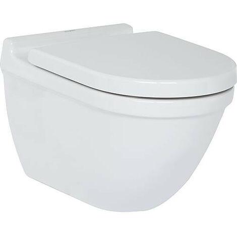 WC mural Duravit Starck 3 en ceramique, avec fixaton, blanc 4,5l rincage, lxhxp: 360x345x540mm