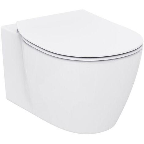WC mural Ideal Standard Connect, fixation invisible E7718, Coloris: Blanc avec Idéal Plus - E7718MA