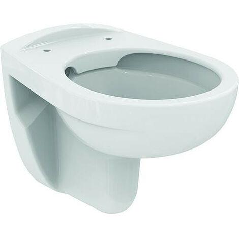 WC mural Ideal Standard Eurovit, sans bord de rincage blanc
