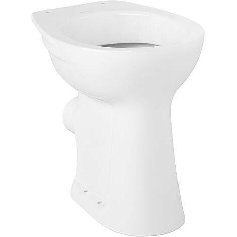 WC plat haut Vitalis Geberit, rehausse, blanc lxhxp: 355x460x460mm