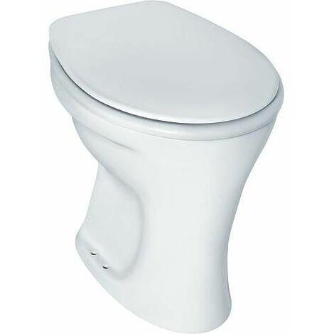 WC rinçage plat, sortie extérieure horizontale