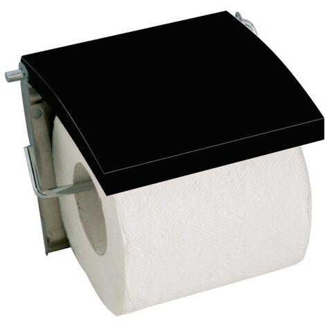 WC Rollenhalter MDF Schwarz glänzend