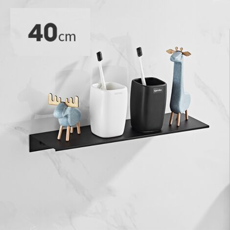 WC sans perforation salle de bain simple étagère WC lavabo mural lavabo miroir porte WC 40cm